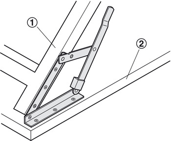 Folding Bracket, for Tables and Benches