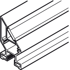 Frame Profile, 10-C, Lateral, Vertical frame profile 45°