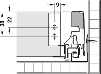 Front Stabilizer, For Blum Tandembox Antaro Drawer