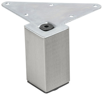 Furniture Foot, Square, Steel