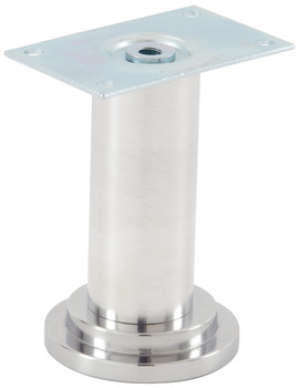 Furniture Foot, with Steel Mounting Plate, Screw-Mounted