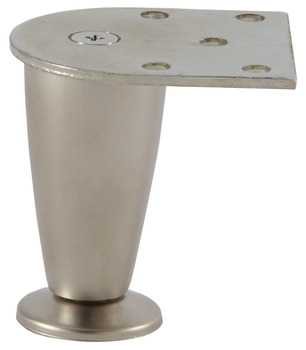 Furniture Foot, Zinc, 75 mm (3)
