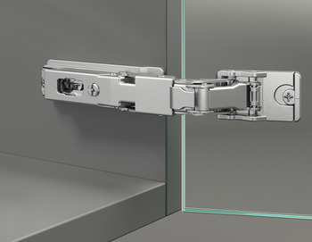Glass Door Concealed Hinge, Häfele Duomatic / Duomatic Push, for all-glass or glass/wood constructions
