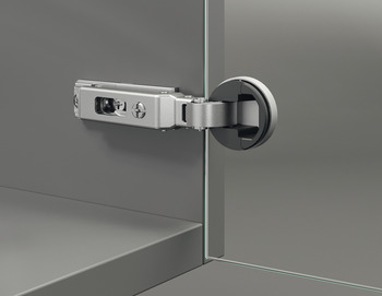 Glass Door Concealed Hinge, Salice, 94° Opening Angle, Self Closing, Inset Mounting