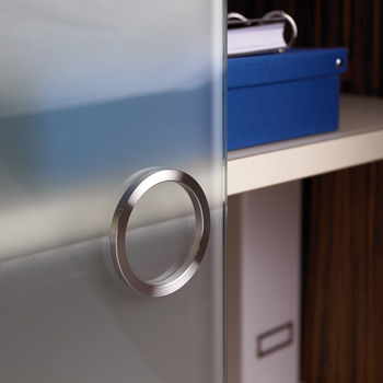 Glass Door Handle, Matt, Stainless Steel