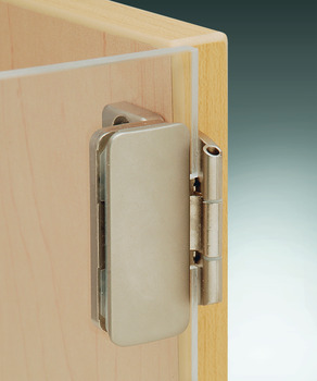 Glass Door Hinge, Aximat®, 230° Opening Angle, Glass to Wood, 3 mm Overlay