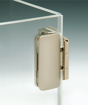 Glass Door Hinge, Aximat®, 270° Opening Angle, Glass to Glass, Inset