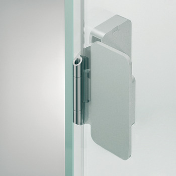 Glass Door Hinge, Aximat®, Grade 1, Non-bore, 220° Opening Angle