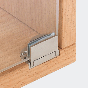 Glass Door Hinge, Opening angle 95°, inset mounting