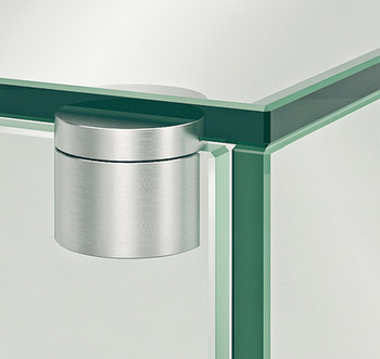 Glass Door Pivot Hinge, 210°, External, for All-Glass Constructions