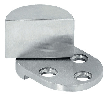 Glass Door Pivot Hinge, Opening Angle 210°, Stainless Steel, External, For Glass/Wood Constructions