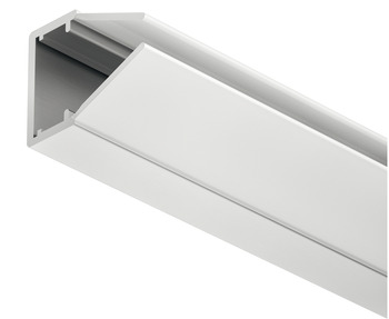 Glass Edge Profile, with Milk Lens, Loox LED