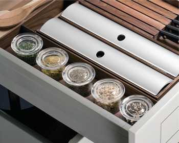 Glass Lid Container, for Fineline™ Cutlery Tray