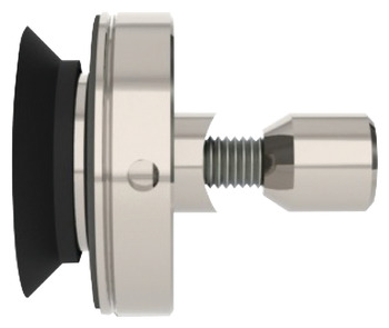 Glass Mount, Adjustable, Countersunk, Stainless Steel