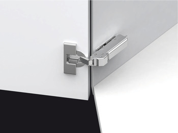 Grass TIOMOS +45° Concealed Corner Hinge, 110° Opening Angle, Overlay