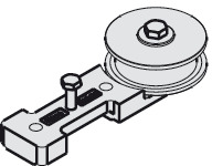 Guide Pulley Wheel, with Mounting Screws