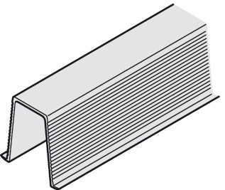 Guide Rail, 20 x 12 (13/16 x 1/2), Glue-in