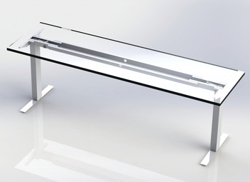 Hat Channel, Cable Guide, for Clever Table Base System