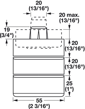 Height Adapter, for Furniture Glide 635.92.320