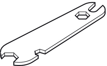 Height Adjustment Wrench, Required to Adjust Trolley Hanger