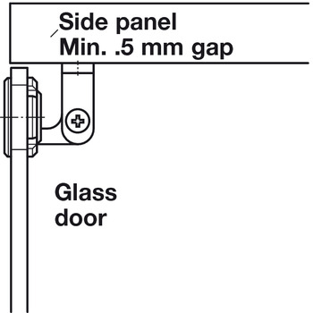 Hinge, Claronda Glass Door