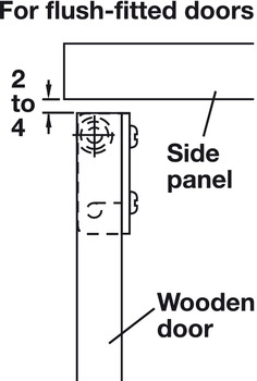 Hinge, for Wood Doors and Lids