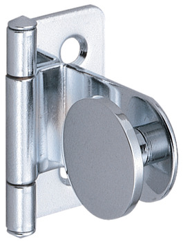 Inset Glass Door Hinge, 180° Opening Angle, for 4-6 mm Doors