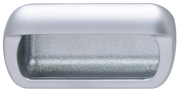 Inset Handle, Matt Chrome, Zinc
