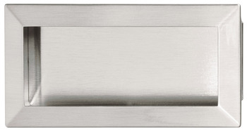 Inset Handle, Satin Nickel, Zinc & Steel