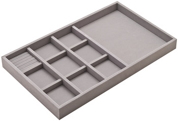 Jewelry Tray, 2 Depth, Faux Suede