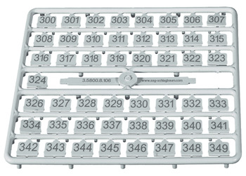 Key Number Set, for SAFE-O-MAT® S-6 Metal Locker Locks