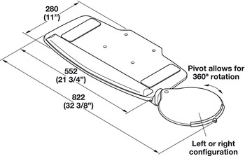 Keyboard Tray, HDPE