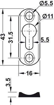 Keyhole Plate, Bed Connector