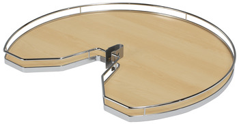 Kidney Shaped Wood Shelf, for Suzie-Q®