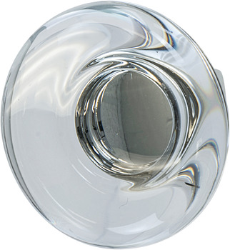 Knob, Aluminum & Synthetic Crystal, ⌀44 mm