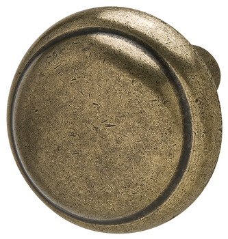 Knob, Antique Brass Zinc