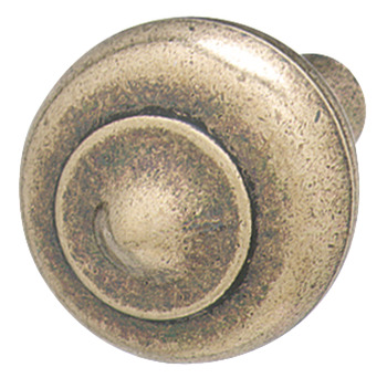 Knob, Antique Bronze, Zinc