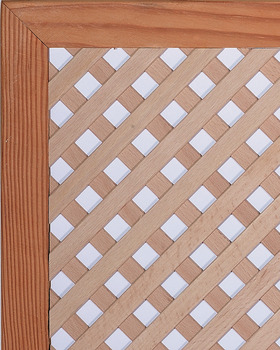 Lattice Grill, 45° Angle, 1/2 Staves