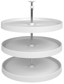 Lazy Susan Set, Full Circle, Plastic, Three-Tray