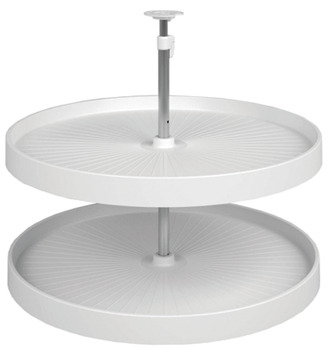Lazy Susan Set, Full Circle, Plastic, Two-Tray