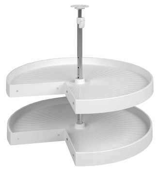 Lazy Susan Set, Pie-Cut, Plastic, Two-Tray