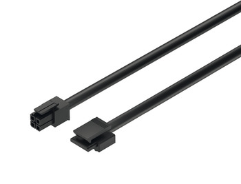 Lead with snap-in connector, Häfele Loox, for modular switches