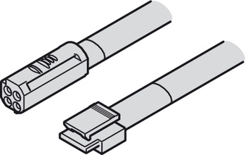 Lead with Snap-In Connector, Häfele Loox5, 3-wire 24 AWG, 12 V