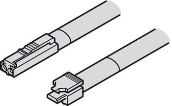 Lead with Snap-In Connector, Häfele Loox5, monochrome (2-wire 24 AWG), 12 V