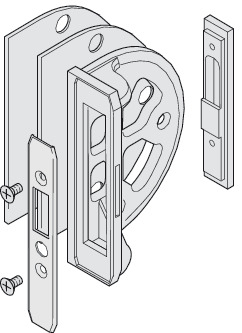 Lock Bracket, with Strike Plate, Without Cover Cap
