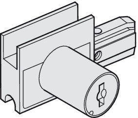 Lock housing, with Cylinder, Keyed Different