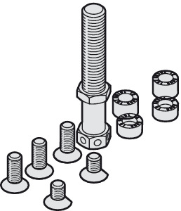M10 Suspension Bolt, M10 and mounting screws
