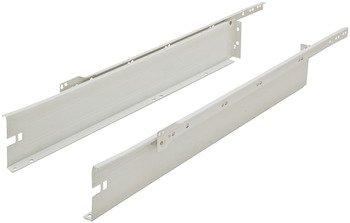Metal Box Drawer System, 4 1/2 Height, 3/4 Extension, Self-Closing