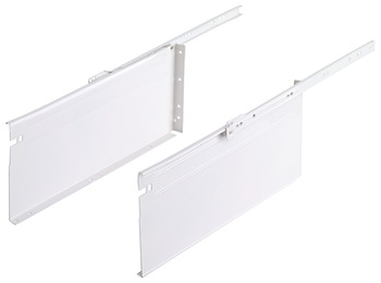 Metal Box Drawer System, 6 Height, 3/4 Extension, Self-Closing