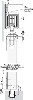 Metal Door Guide, For Minimum Door Thickness 50 mm (2)